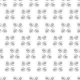Spirales noires Photographie stock libre de droits