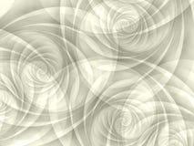 Spirales opaques blanches de remous Images libres de droits
