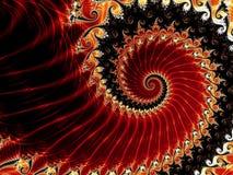 spirales rouges Photos libres de droits