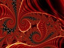spirales rouges Photo libre de droits