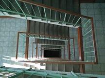 Spiralflyg av trappa Arkivbilder