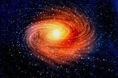 Spiralgalax i yttre rymdar Royaltyfri Foto