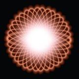Spiralgraph Design. Glowing sprialgraph type design on black background Stock Photos