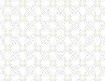 Spirali di arabesque della perla di griglia della carta da parati. Immagini Stock