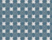 Spirali di arabesque della perla di griglia della carta da parati. Fotografia Stock