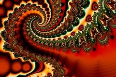 Spirali di turbinii di frattali immagini stock