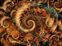 Spirali fredde di turbinii di frattali Fotografie Stock