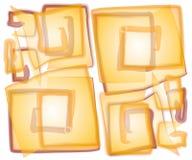 Spirali quadrate opache astratte Immagini Stock