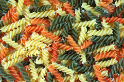 Spirali trio. Pasta stock photo