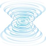 Spiraling. Blue and white spiraling up or down Royalty Free Stock Photos
