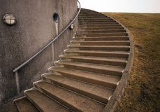 Spiraling concrete stairs Royalty Free Stock Photo