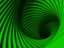Spiraling green ellipse Royalty Free Stock Photos