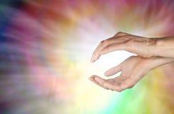 Spiraling Healing Energy Stock Photo