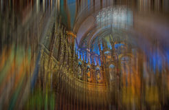 Spiraling Heavenward--Notre Dame Basilica in Montreal Royalty Free Stock Images