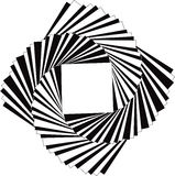 Spiraling Squares. Spiraling Black and White Squares  eps file available Stock Image