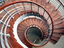 Spiraling Staircase Seen  From Above Stock Images