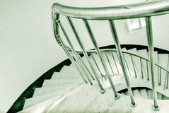 Spiraling stairs Stock Images
