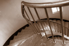 Spiraling stairs Royalty Free Stock Photos