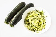 Spiralized-Zucchinizucchini Lizenzfreies Stockbild