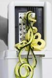 Spiralizer绿皮胡瓜 库存照片