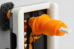 Spiralizer carrot Stock Images