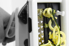 Spiralizer courgette Royalty Free Stock Image