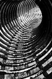 Spiralling circular structure Royalty Free Stock Images