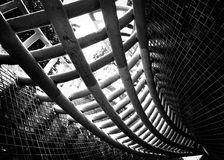 Spiralling circular structure Stock Image
