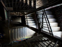 Spiralling graffiti staircase Berlin Royalty Free Stock Photos