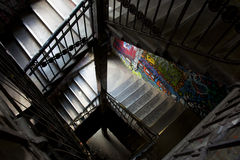 Spiralling graffiti staircase Berlin Royalty Free Stock Photo