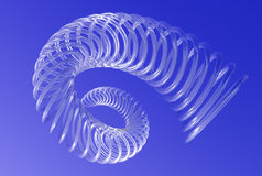 Spiralling vortex in blue sky Stock Image