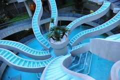 Spiralling water feature Royalty Free Stock Photos