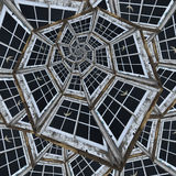 spiraloid fönster Royaltyfri Fotografi
