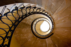 Spirals. Spiral Staircase, classic architecture and design royalty free stock images