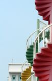 Spirals. The few remaining spial stairways in the Bugis district of Singapore Royalty Free Stock Photography