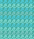 Spirals. Seamless spirals decorative blue background Royalty Free Stock Photography