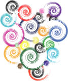 Spirals. Many spirals in different colors Stock Photography