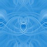 Spirals. Blue spiral swirls, fractal collage Stock Photography