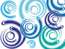 Spirals background. Abstract spiral background on white background Stock Image