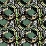 Spirals Baroque vector seamless pattern. Modern ornamental geome. Tric background. Repeated floral abstract backdrop. Vintage scrolls ornament. Geometrical stock illustration