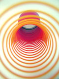 Spirals of color. Spiral of color rings tunnel stock photography