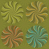 Spirals in color wheel. Four spirals in color wheel Stock Images