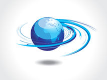Spirals globe. Abstract illustration with spirals globe Royalty Free Stock Photography