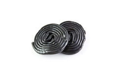 Spirals from licorice. Licorice sweets in the form of a spirals Royalty Free Stock Photography