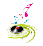Spirals music theme Royalty Free Stock Images