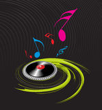 Spirals music theme Stock Photo