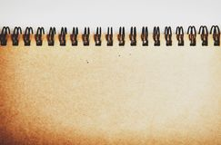 Spirals for a notebook a top view.  royalty free stock photos