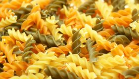 Spirals of pasta. For backgrounds and textures stock photography