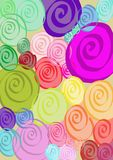 Spirals. Pattern of colorful spirals random Royalty Free Stock Images
