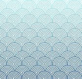 Seamless Gradated Indigo Spiral Pattern for Abstract Background royalty free illustration